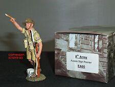 King and country EA60 8TH Ejército Australiano Aussie signo pintor Metal Soldado de juguete