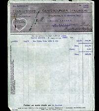 """STRASBOURG (67) USINE de LINGES de TABLES """"Ets. J. GENTZBOURGER"""" 1923"""