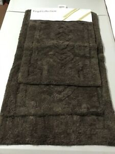 Chesapeake Merchandising Regal Collection 2 pc. Bath Mat Rug Set Chocolate #106V