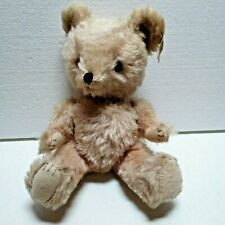 "Character Novelty 12"" Beige Mohair Bear 1985 Vintage South Norwalk Connecticut"