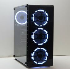 Glass RGB GAMING PC Intel i7-3930K Six-Core 24GB DDR3 240GB SSD 1TB HDD Win 10