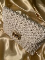 Vintage Rodo Made In Italy Woven Clutch/crossbody Purse beautiful Ivory & Gold