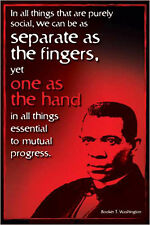 BOOKER T. WASHINGTON, AMERICAN HERO Civil Rights History Educational POSTER