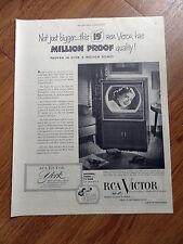 1950 RCA Victor TV Television Ad   York