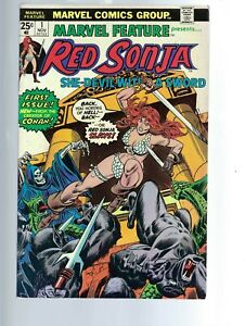 MARVEL FEATURE  - RED SONJA 1  VF  -  1ST SOLO SERIES - BRONZE AGE MARVEL COMICS