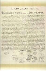 United States Declaration of Independence 1823 William Stone Facsimile, Postcard