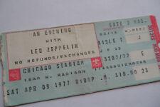 LED ZEPPELIN Original__1977__CONCERT TICKET STUB___Chicago Stadium__VG+++