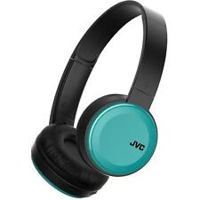 JVC HAS30BT/BLUE Deep Bass Bluetooth on Ear Headphones w/ Rechargeable Battery