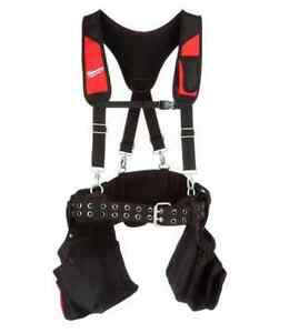 NEW Milwaukee General-Contractor Suspenders Tool Work-Belt Suspension-Rig Pouch