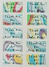 260 X Thank You For Your Order Sticky Labels Marble Effect Matte Stickers