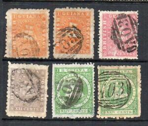 BRITISH GUIANA USED 1863-1876 GALLEON DEFINITIVE SELECTION