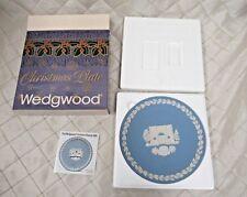 Vintage Wedgwood Jasperware Christmas Plate 1981 Marble Arch Original Box MINT
