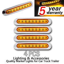 4pcs 12V/24V Amber 9 SMD LED Side Clearance Marker Light Car Truck Trailer Lamp