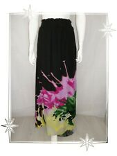 B - Jupe Longue Fantaisie Noir Multicolore 39F2703  Desigual  Taille 38 40 ..