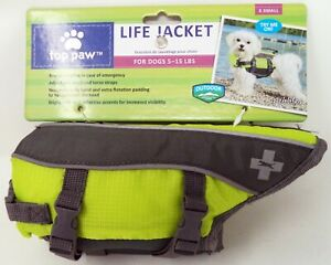 TOP PAW Lime Green & Gray Dog Life Jacket (XS) (NEW)