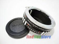 Sony Alpha Minolta AF MA Lens to Micro 4/3 M4/3 adapter E-PL2 E-PM1 G1 GH4 + CAP