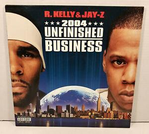 R.KELLY & JAY-Z UNFINISHED BUSINESS 2004 2x Vinyl LP Album Record Promo Rare EUC