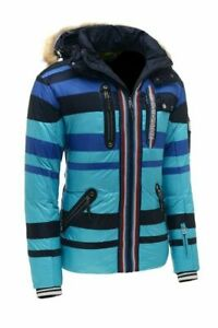 SALE! Bogner  insulated Mens Winter Ski Jacket Size EU 48 38 US M blue/navy NWT