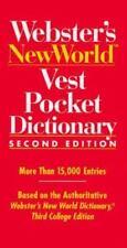 Webster's New World Vest Pocket Dictionary