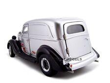 1935 FORD SEDAN DELIVERY SILVER/FLAME 1:24 MODEL CAR BY UNIQUE REPLICAS 18523