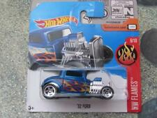 Hot Wheels 2017 #223/365 1932 FORD blue silver HW Flames