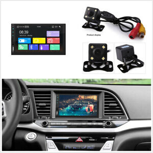7in HD Touch Screen Car FM Stereo Radio MP5 Player Bluetooth AUX w/4LED Camera