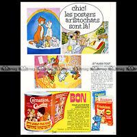 FRISKIES - CARANTION & Les Aristochats Aristocats 1972 Pub / Publicité / Ad #A76