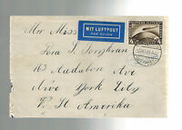 1928 Germany Graf Zeppelin LZ 127 Flight Cover to USA # C 37
