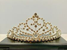 Crystal 454 Tiara Crown - Silver Tone