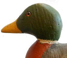 AAFA 1900s Antique Folk Art Hand Carved Wood working Duck Decoy Mason Mallard