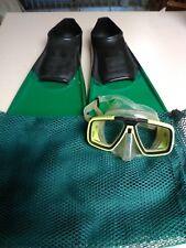 FINIS Long Floating Fins & Technisub AQUA LUNG Look Goggles / Mask