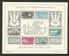 MEXICO-MNH PERFORATED BLOCK - 1st Postage Stamp Centenary - 1956.