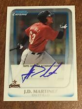 J.D. MARTINEZ 2011 Bowman Chrome ROOKIE ON CARD Autograph RED SOX ASTROS