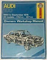 Haynes Audi 100 1969 to September 1976 Owners Workshop Manual 162
