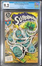 Superman The Man of Steel #18 2nd Print DC Comics 1st App. Doomsday CGC NM- 9.2!