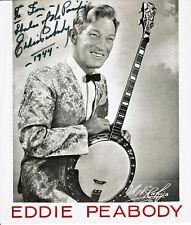 Eddie Peabody, signed photo from World War II, American banjo player, provenance