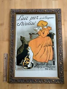 THEOPHILE STEINLEN ART NOUVEAU 1895 PRINT WATERMARKED NO'D RARE 1960's ED FRAMED