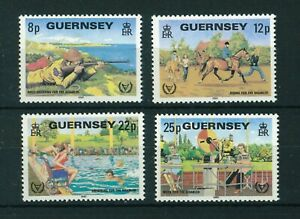 Guernsey 1981 International Year for Disabled Persons stamps. MNH. Sg 245-248