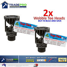 2x Wobble Tee Pro Water Efficient Head Top Only Sprinkler New Model Aust Made