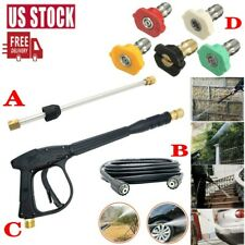 High Pressure Car Power Washer Spray Gun / Wand Lance / Nozzle Kit / 29.5FT Hose