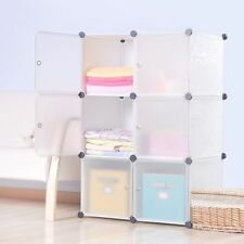 DIY Home Storage Cube Cabinet for Clothes Shoes Bags, Office, White (6) Cubitbox