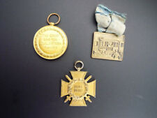 Antique 3 WW1 Military Medals 1914 1919 American Canadian German Awards Cross