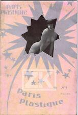 PARIS PLASTIQUE Nu Erotisme Cabaret Girls Strip-tease N°1 Revue 1930s