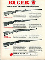 1971 Print Ad of Sturm Ruger Rifle Models 77 10/22 44 Magnum & Number One
