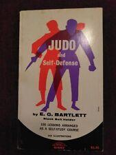 Judo And Self Defense E.G. Bartlett 1963 Book