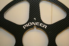 """2 x PIONEER NERO FIBRA sei ha parlato in metallo MOZZO CARBONIO MULINELLO A BOBINA 10.5 """"X 1/4"""""""