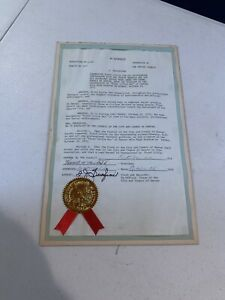 PERSONALLY OWNED FLOYD LITTLE PROCLAMATION FOR FLOYD LITTLE DAY IN DENVER 1972