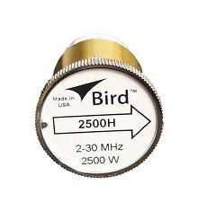 Bird 2500H Plug-in Element 0 to 2500 watts 2-30 MHz for Bird 43 Wattmeters