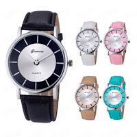 Geneva Women Fashion Watch Retro Dial Leather Casual Analog Quartz Wrist Watches