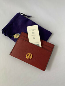 Tory Burch Emerson Slim Card Case Tinto * NEW *